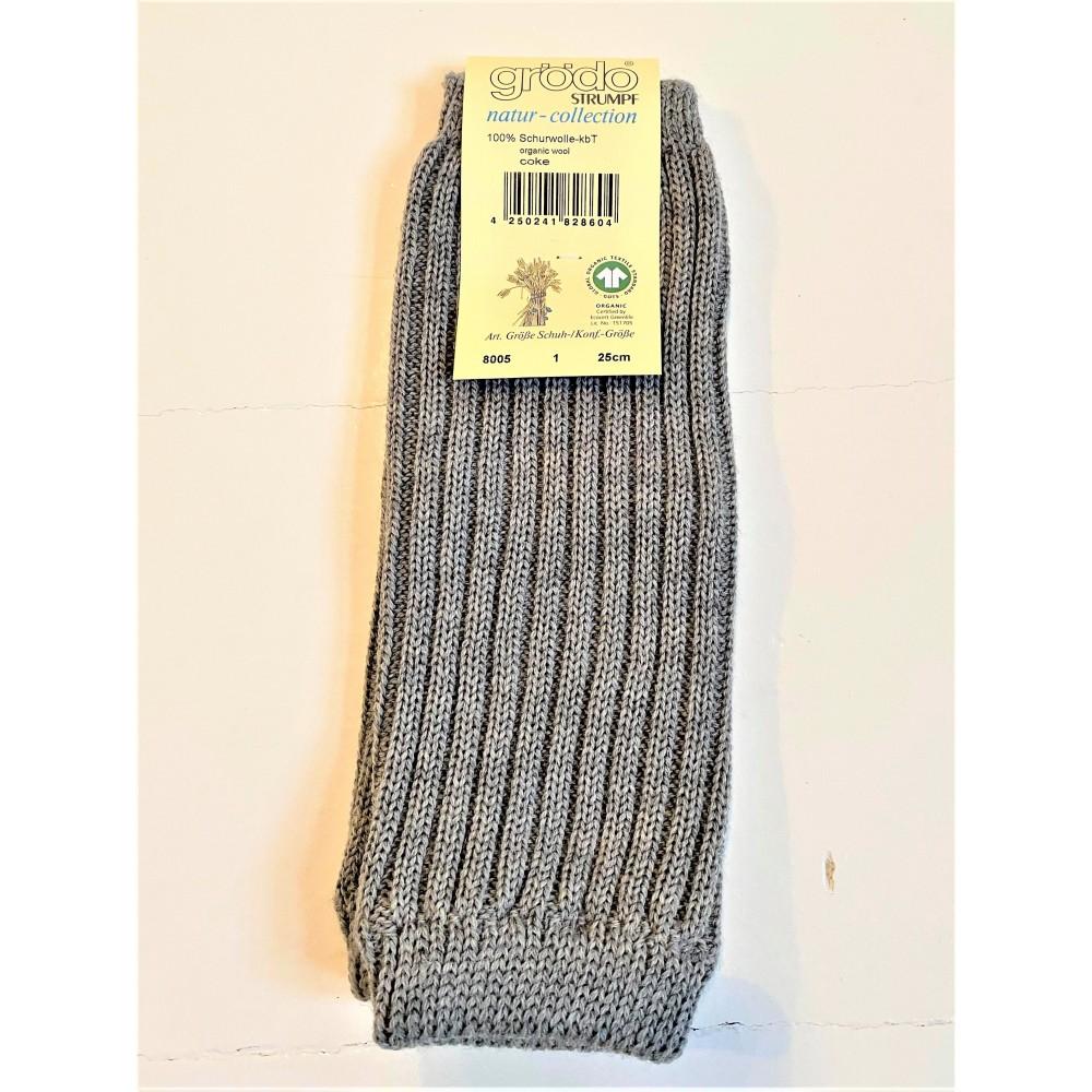 Grödo benvarmere børn økologisk uld 25 cm. grå-31