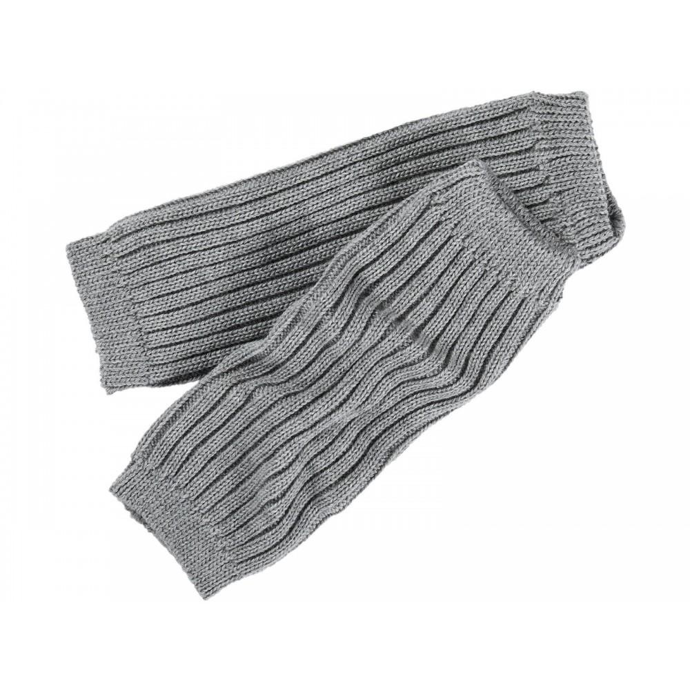 Grödo benvarmere børn økologisk uld 25 cm. grå-01