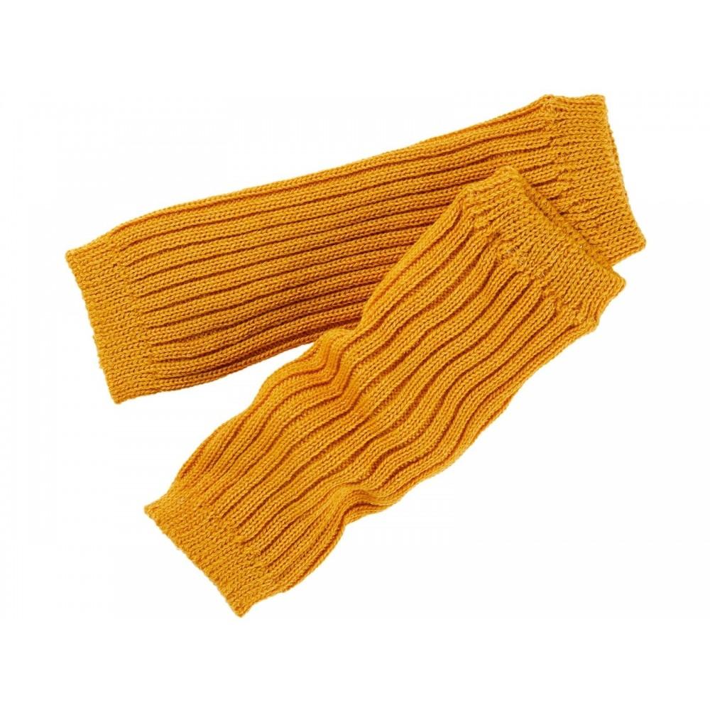 Grödo benvarmere børn økologisk uld 25 cm. safran-01