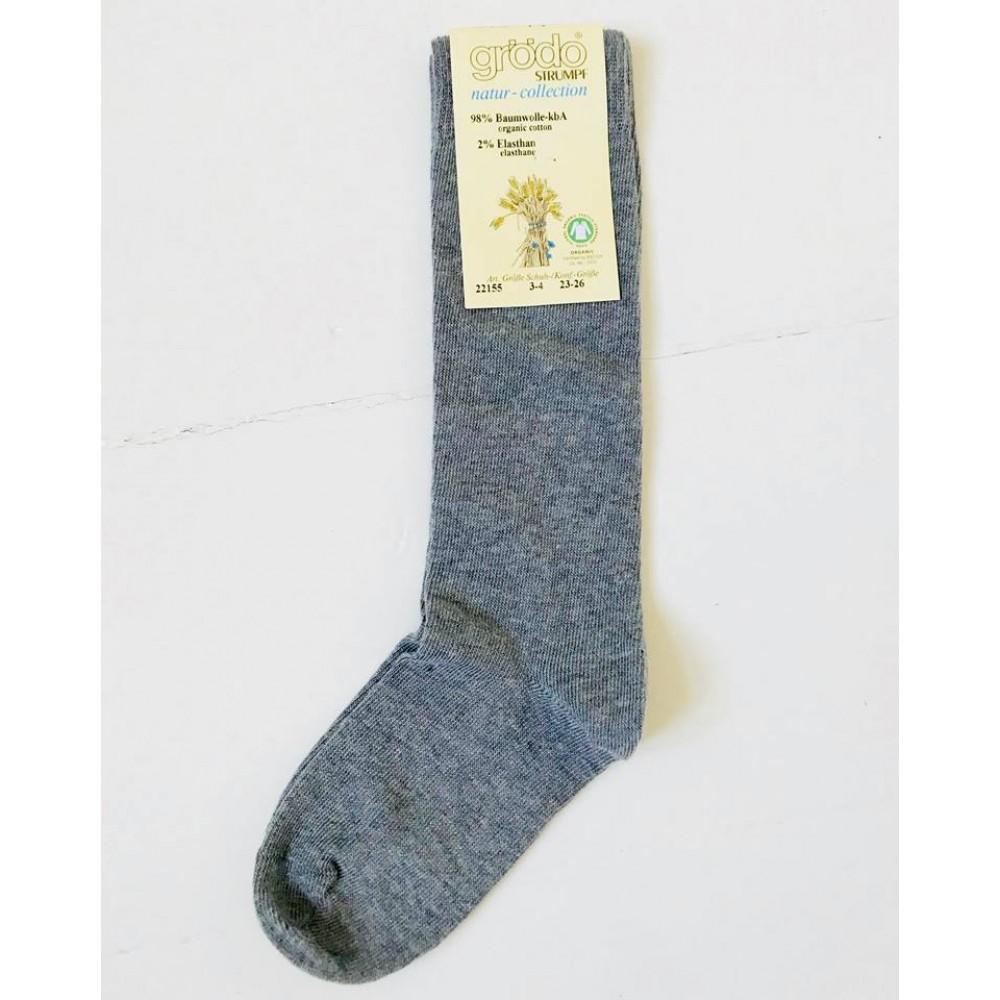 Grödo|knæ strømpe |økologisk bomuld|grå-31