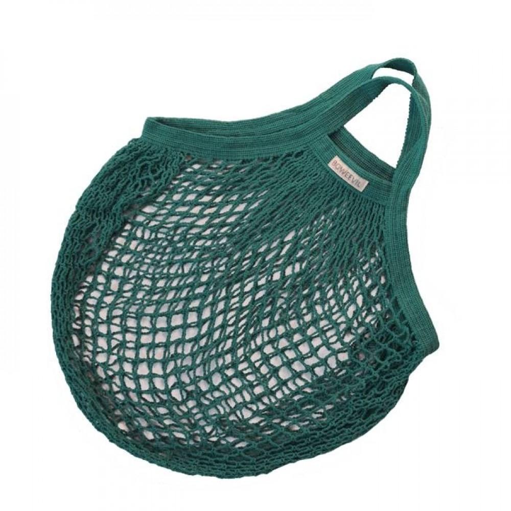 Bo Weevil stringbag granny´s hæklet net petroleumsgrøn-31