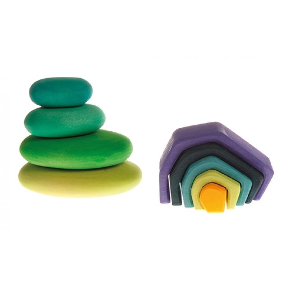 Grimms byggesæt moss pebbles 4 dele-01