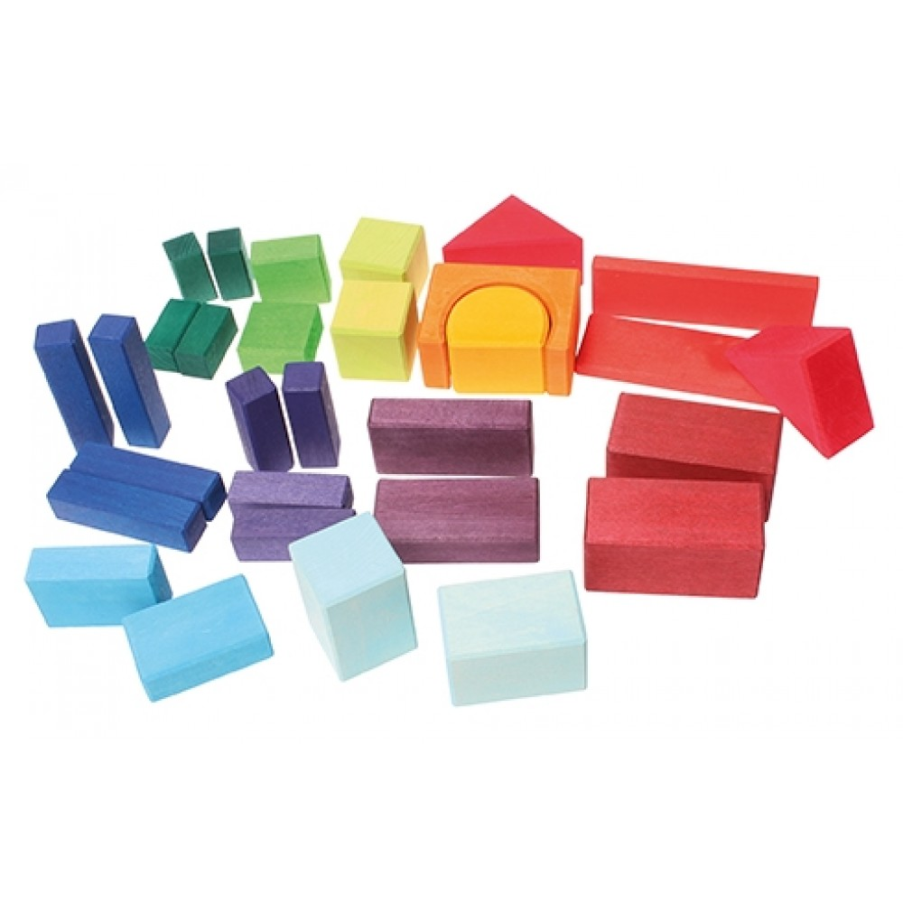 Grimms geo-byggeklodser 30 stk. farvede-01