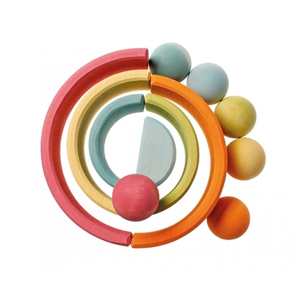 Grimms 6 massive kugler i bakke pastelfarver-04