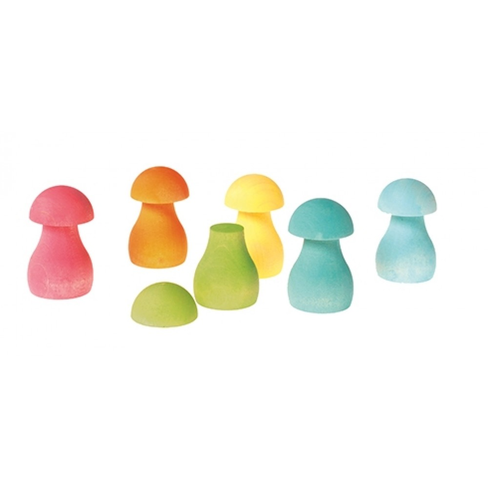 Grimms svampe byggesæt 12 dele pastelfarver-31