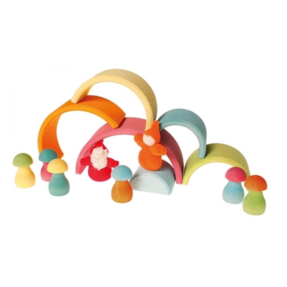 Grimms svampe byggesæt 12 dele pastelfarver-01