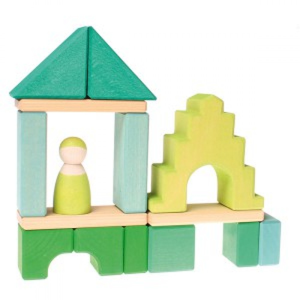 Grimms højt hus med grøn mand 29 cm.-01