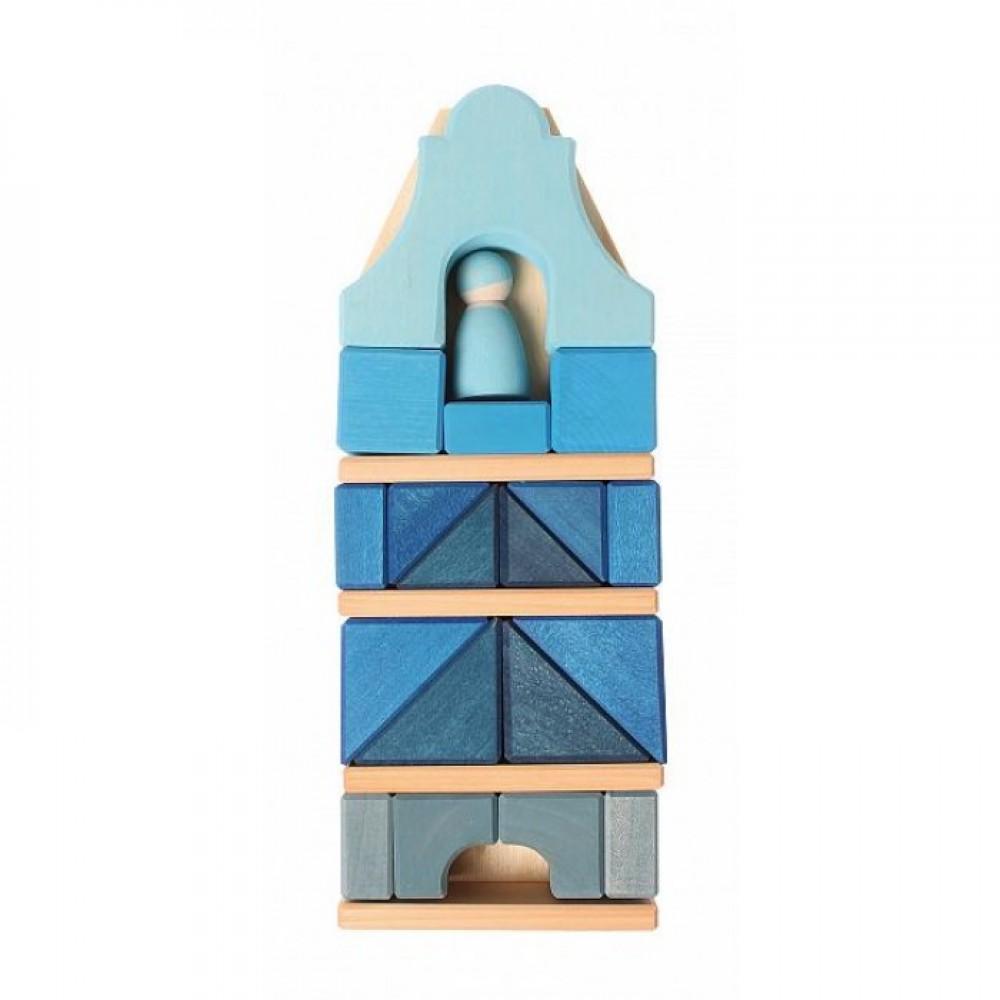 Grimms højt hus med blå figur 29 cm.-31