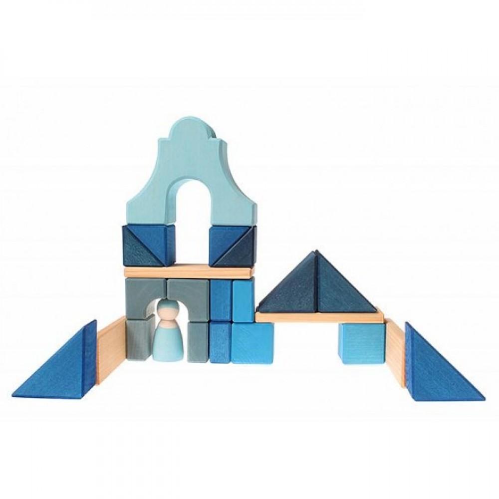 Grimms højt hus med blå figur 29 cm.-01