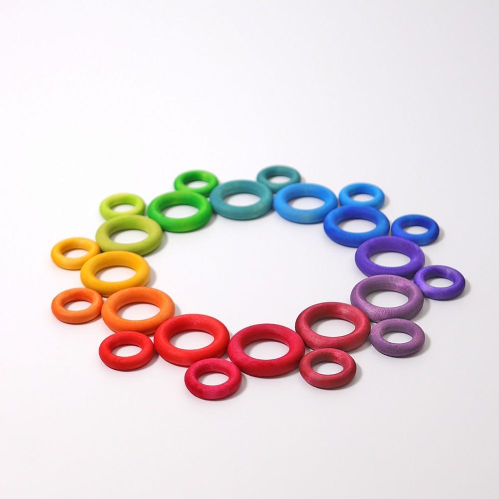 Grimms bygge ringe 24 stk. klassiske farver-31