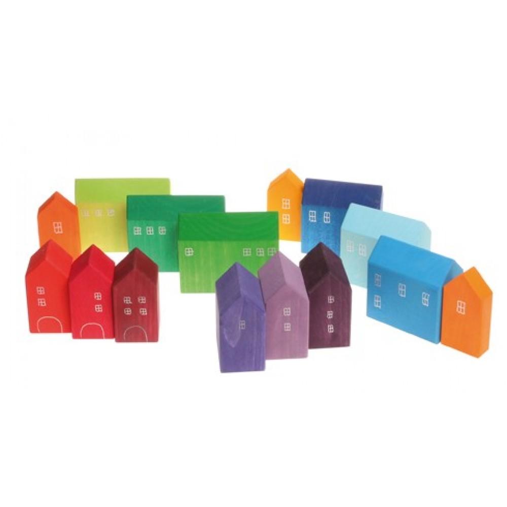 Grimms håndlavede huse i flere størrelser 15 stk.-01
