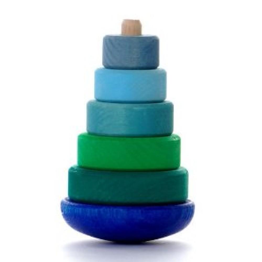 Grimms vippe stabeltårn blå and grøn-31