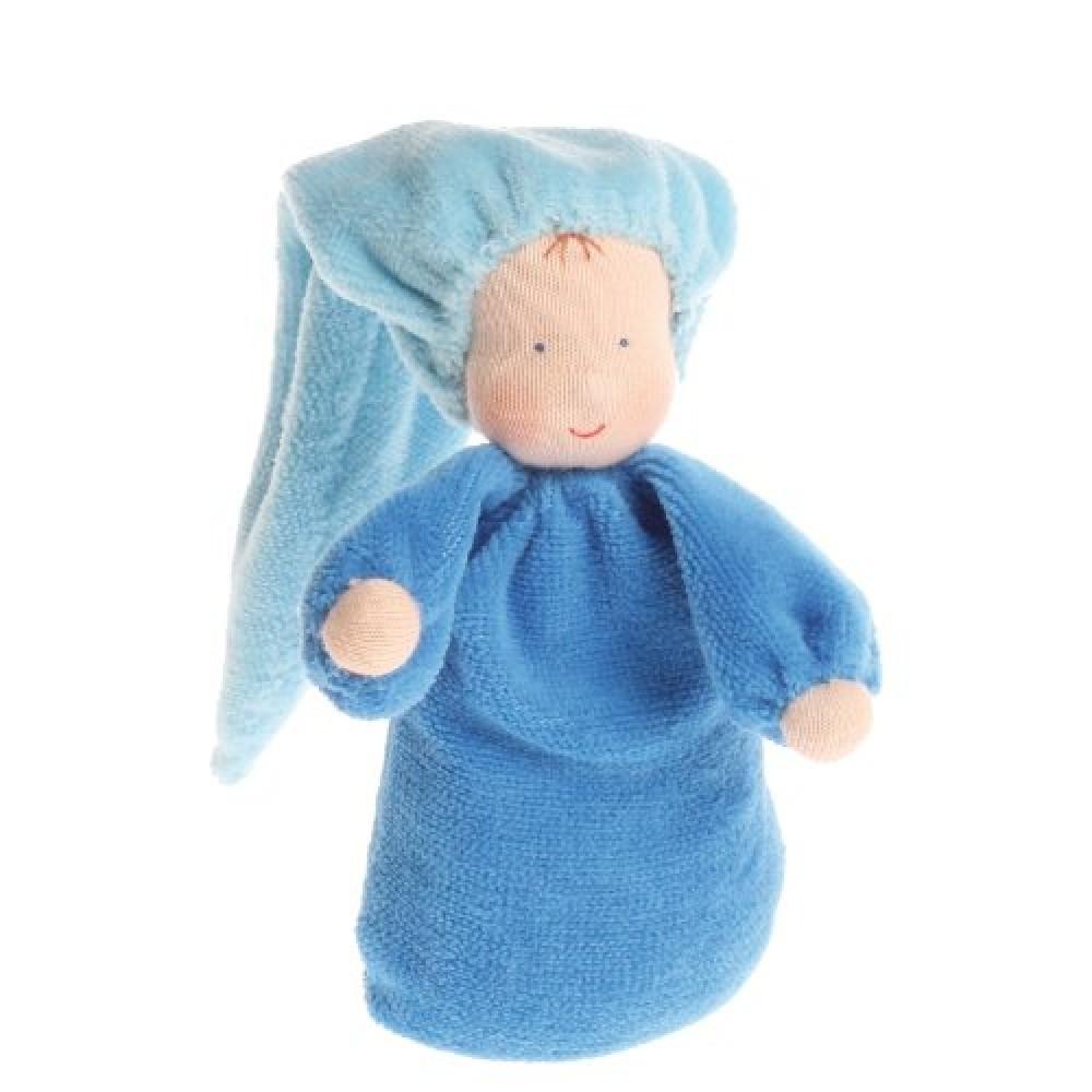 Grimms håndlavet dukke blå-01