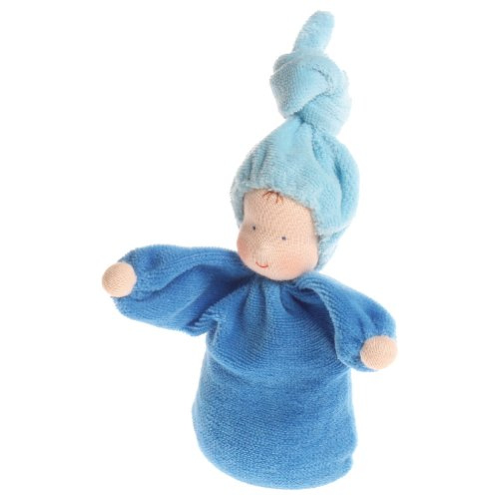 Grimms håndlavet dukke blå-31