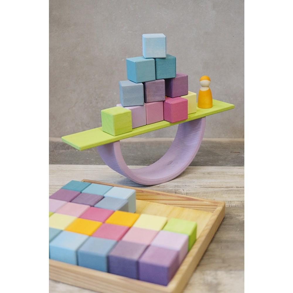 Grimms 36 byggeklodser i trækasse pastelfarver-01
