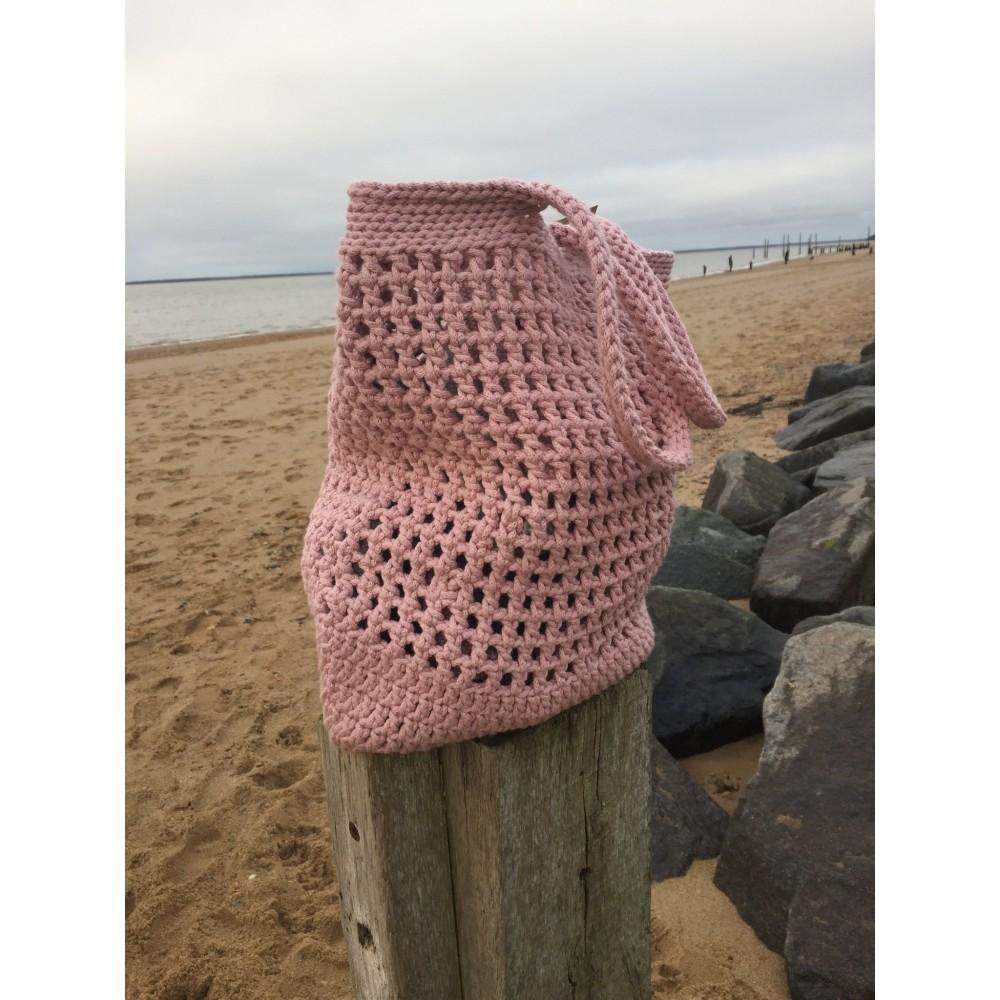By Lohn handmade Crochet Bag light pink-31