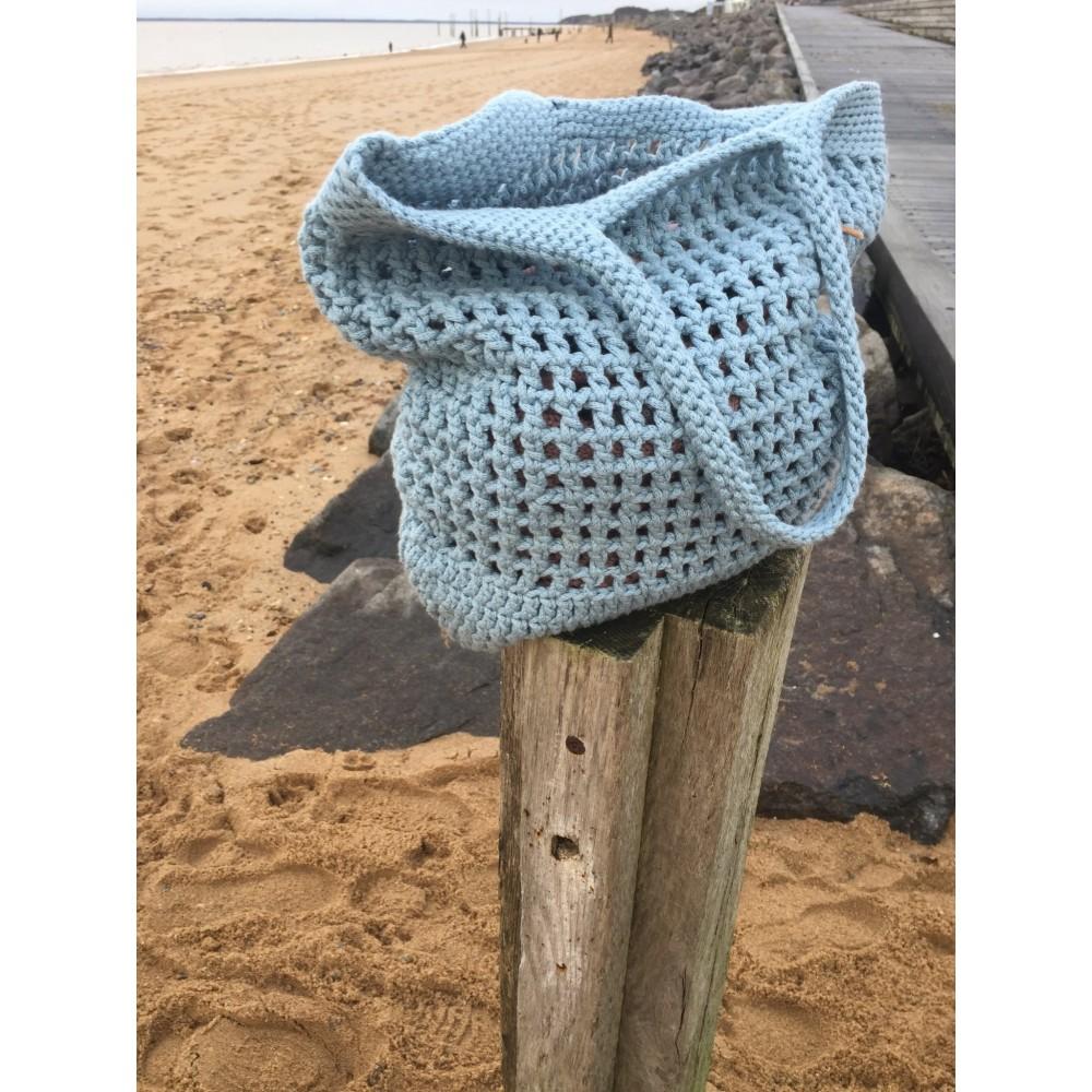 By Lohn handmade Crochet Bag powder blue-31