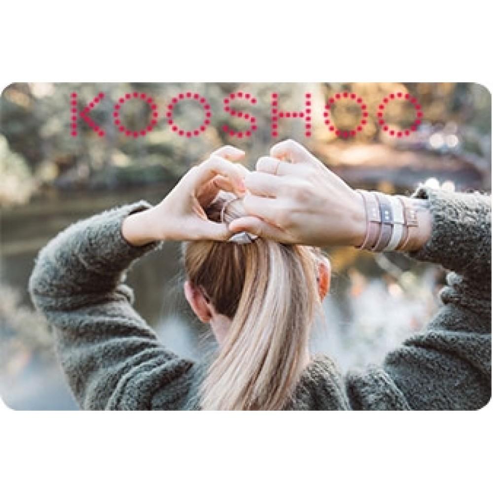 Kooshoo økologiske hårelastikker 5 stk. sort and brun-01