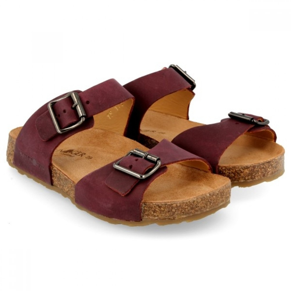 Haflinger sandaler Bio Andrea bordeaux-31