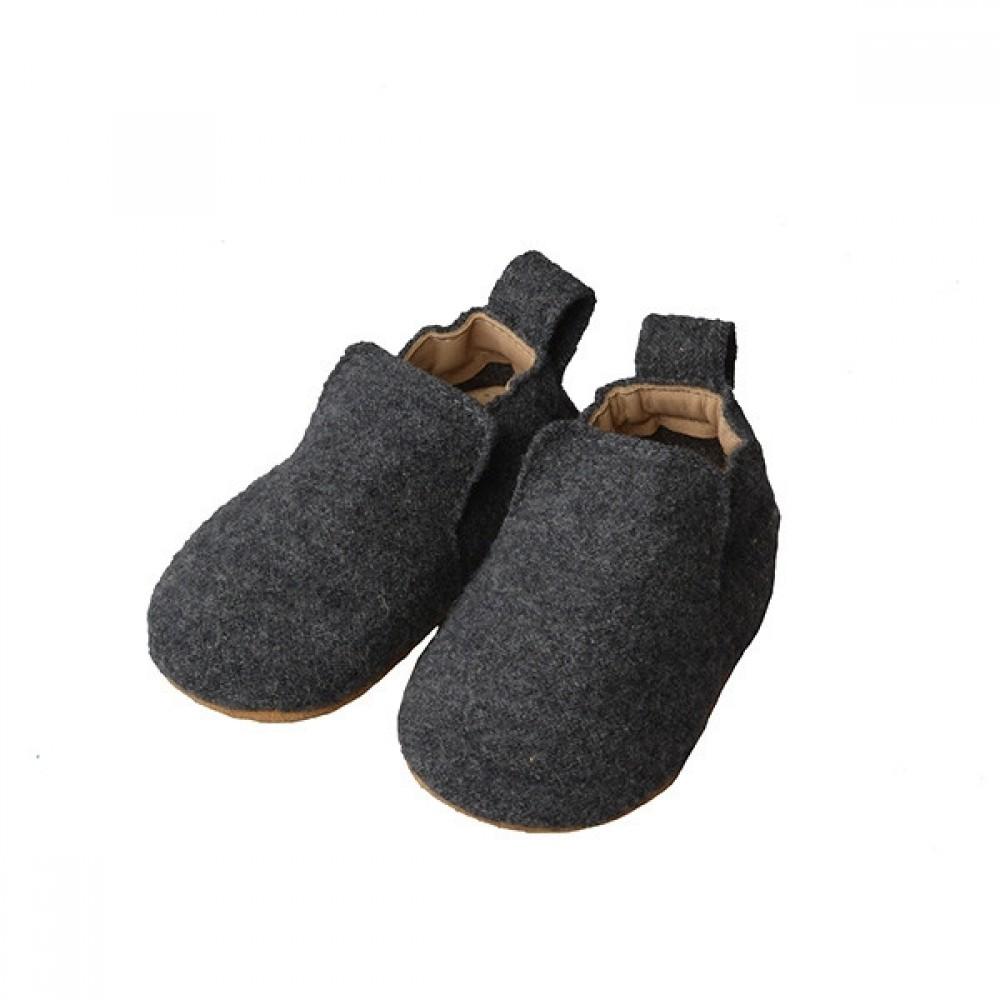 Haflinger indesko hafli uld naturgummisål antracitgrå-31