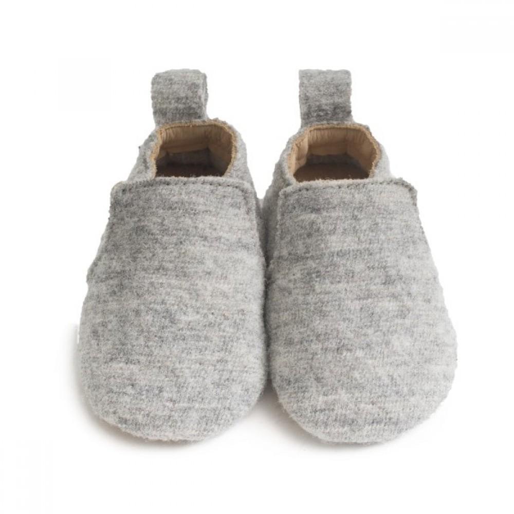 Haflinger indesko hafli uld naturgummisål grå-31