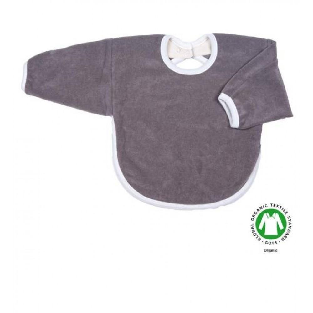 Popolini hagesmæk forklæde med ærmer grå-32