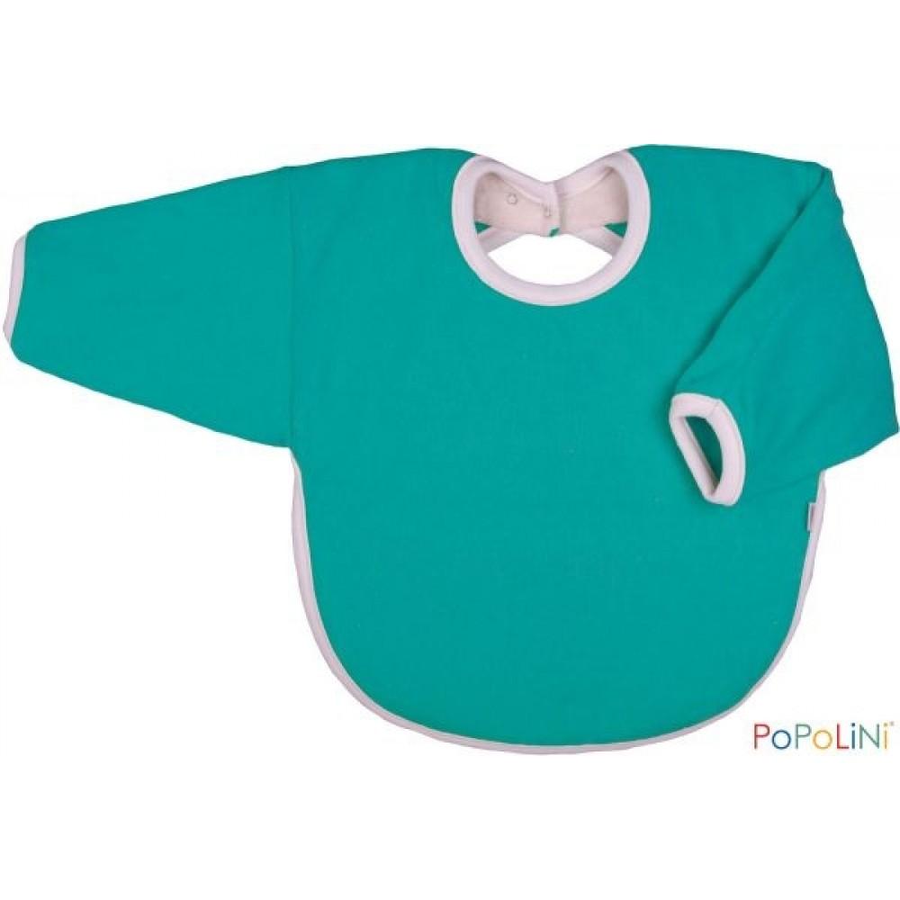 Popolini hagesmæk forklæde med ærmer grøn-31