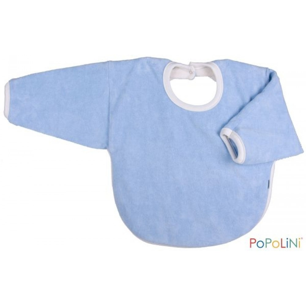 Popolini hagesmæk forklæde med ærmer lyseblå-31