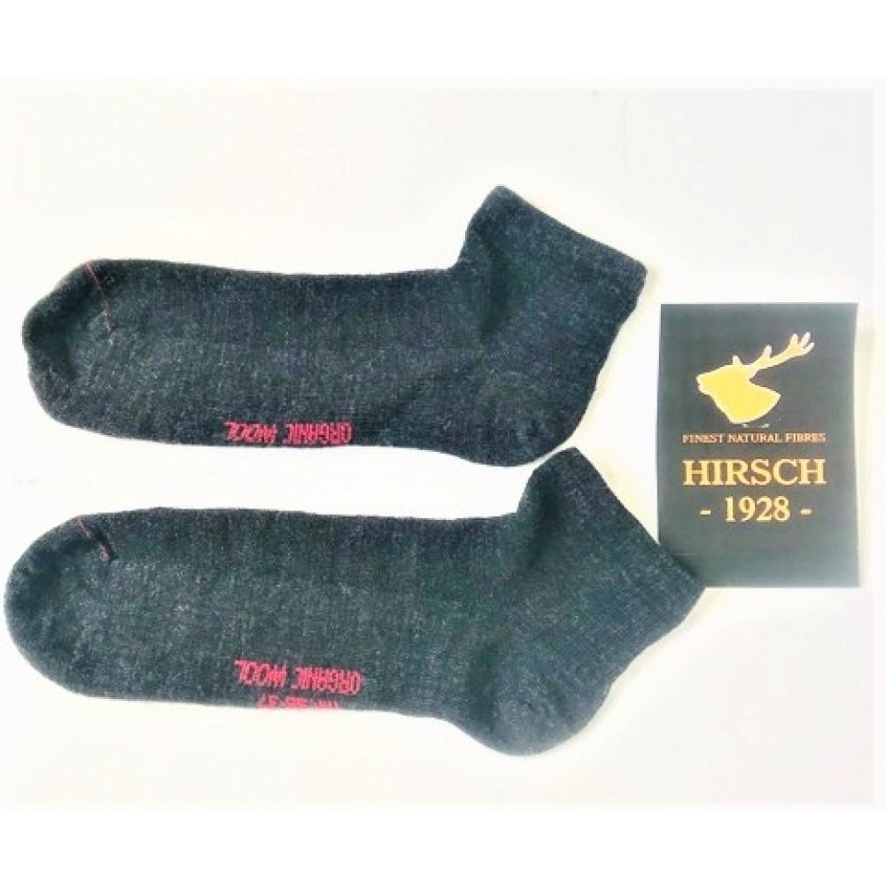 Hirsch tynde ankelsokker uld antracit-01