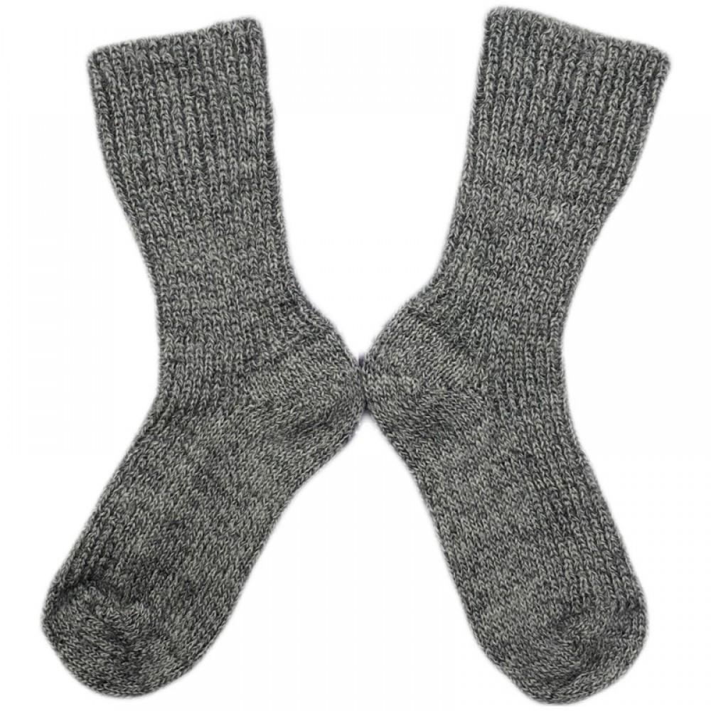 Hirsch økologiske uldstrømper grå-31