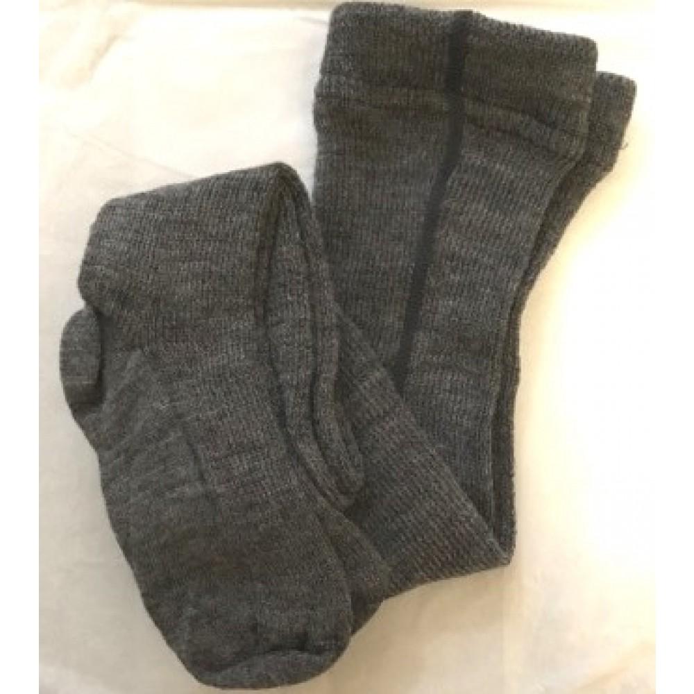 Hirsch strømpebukser økologisk uld grå-01