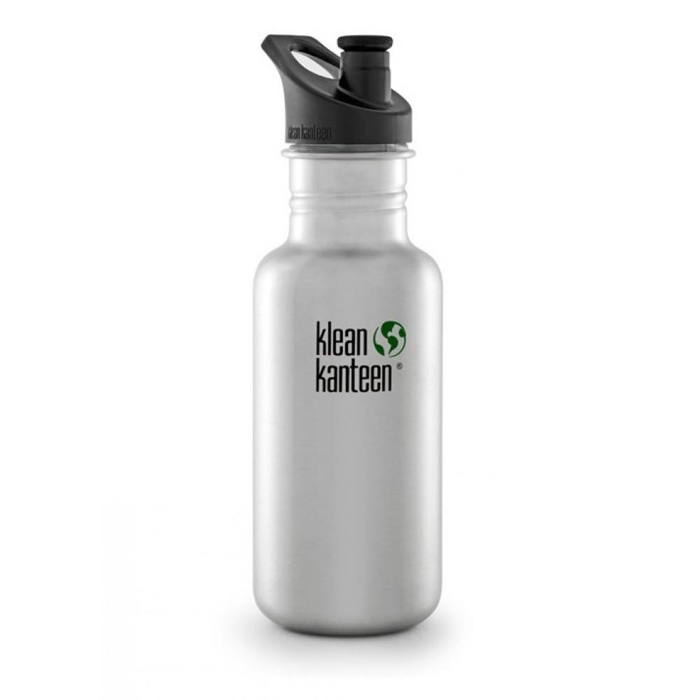 Klean Kanteen 532 ml. drikkedunk børstet stål sportscap-31