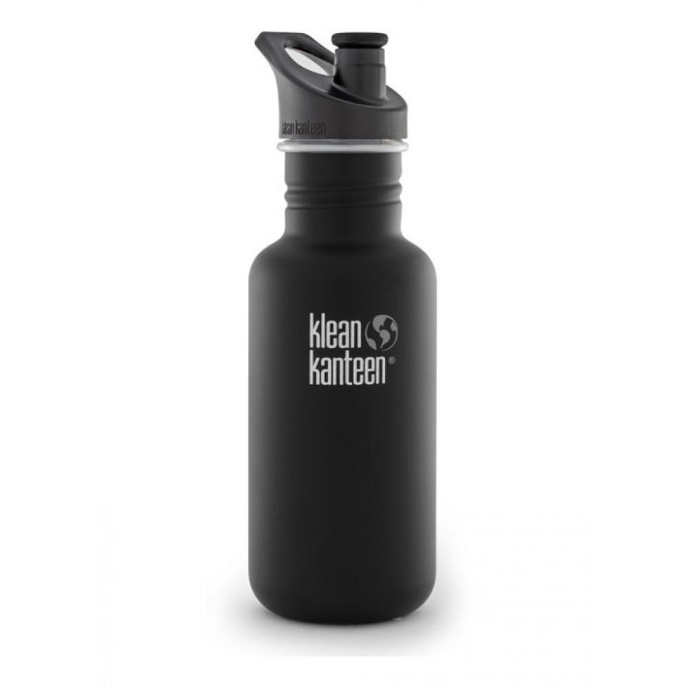 Klean Kanteen 532 ml. drikkedunk Shale Black sportscap-31