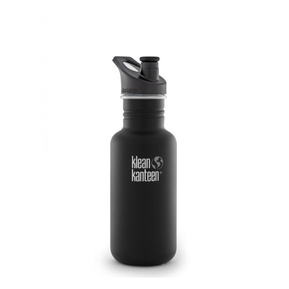 Klean Kanteen 532 ml. drikkedunk Shale Black sportscap-01