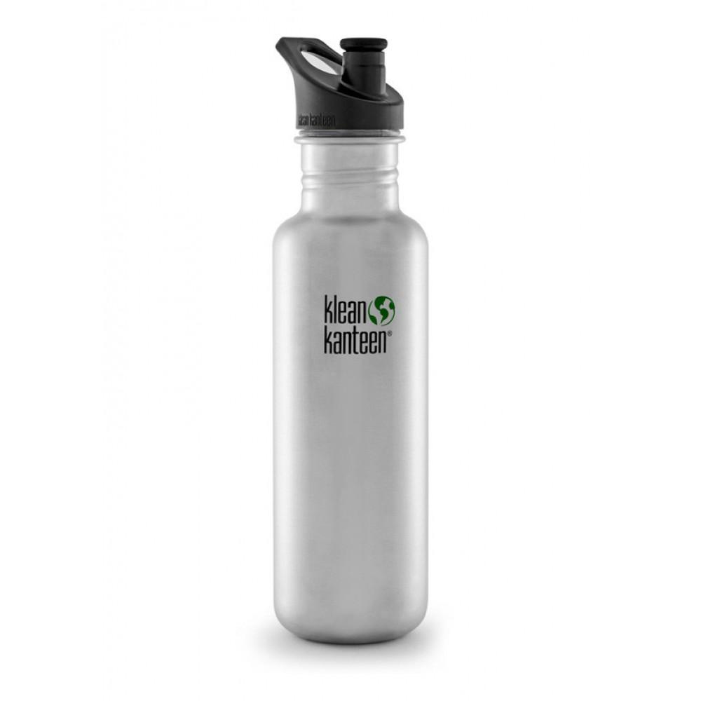Klean Kanteen 800 ml. børstet stål sportscap-31
