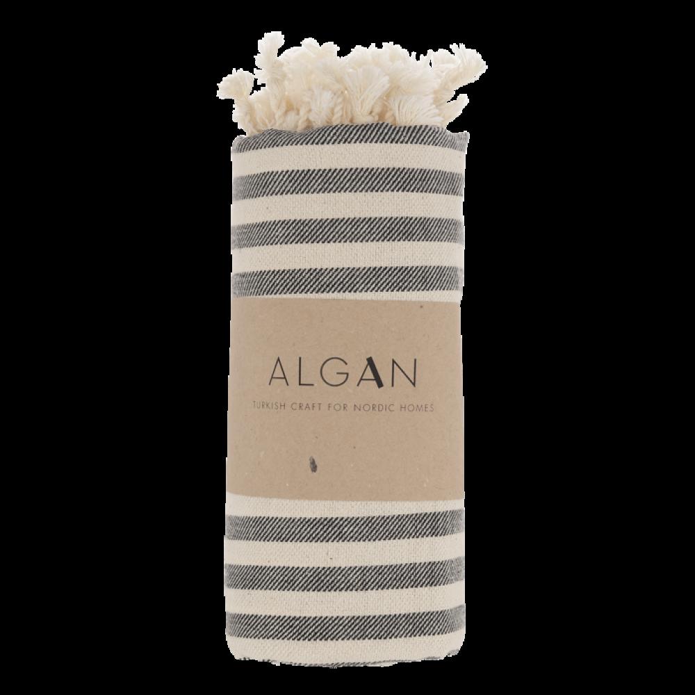 Algan Kavun badehåndklæde 85x180 cm. sort-31