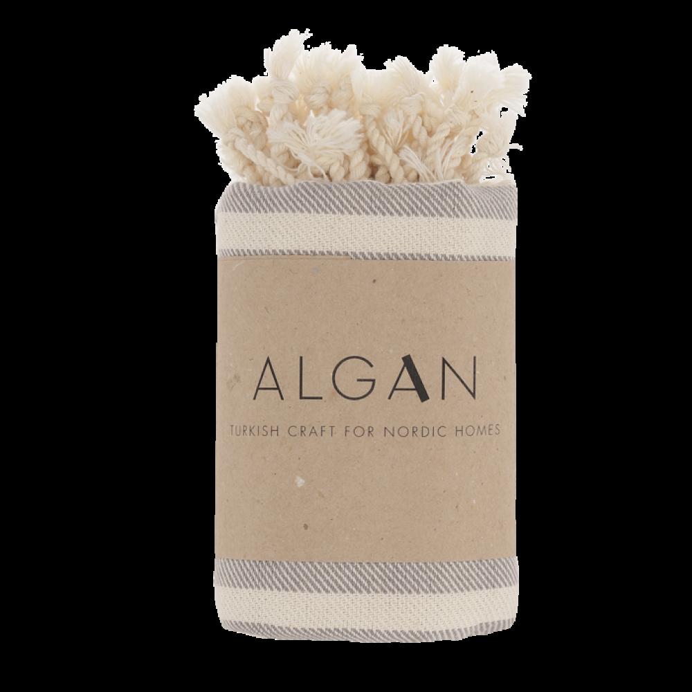 Algan Kavun gæstehåndklæde 45x90 cm. grå-31