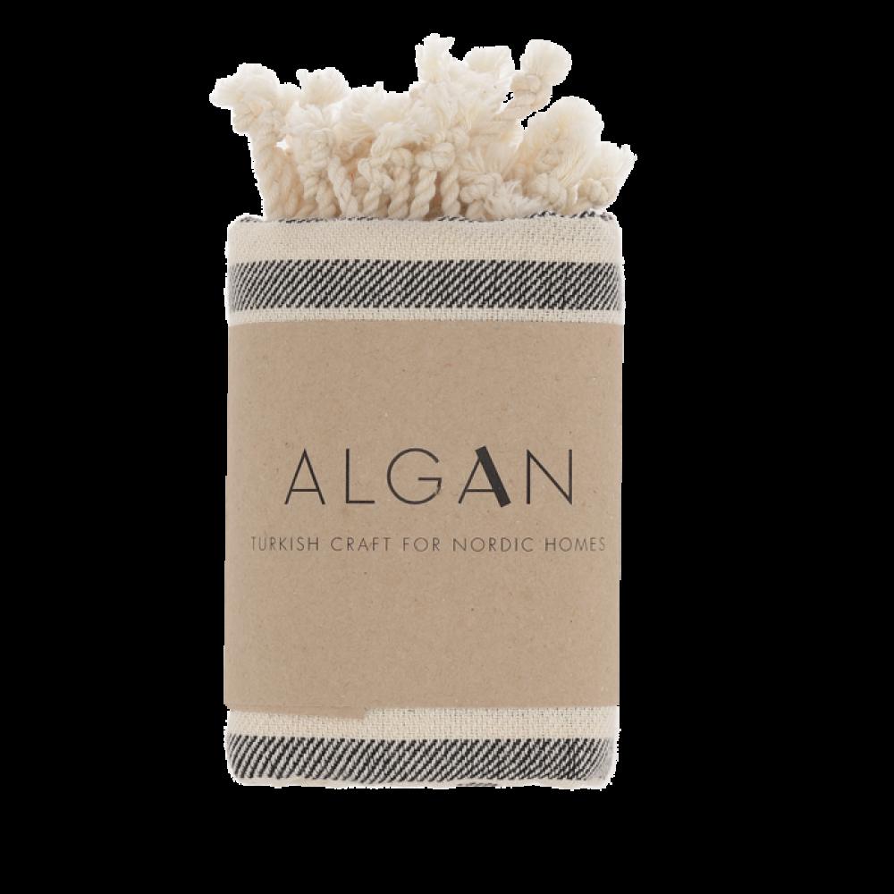 Algan Kavun gæstehåndklæde 45x90 cm. sort-31