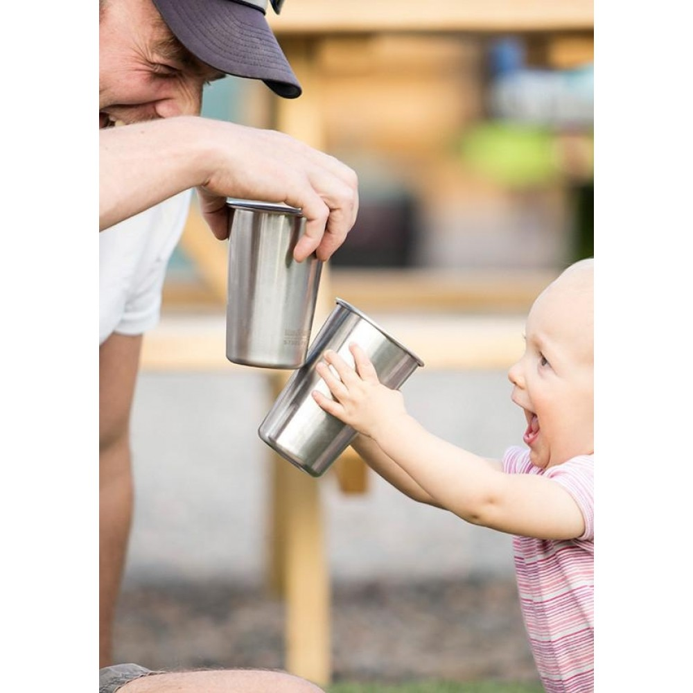 Klean Kanteen 4 kopper i stål 473 ml.-01