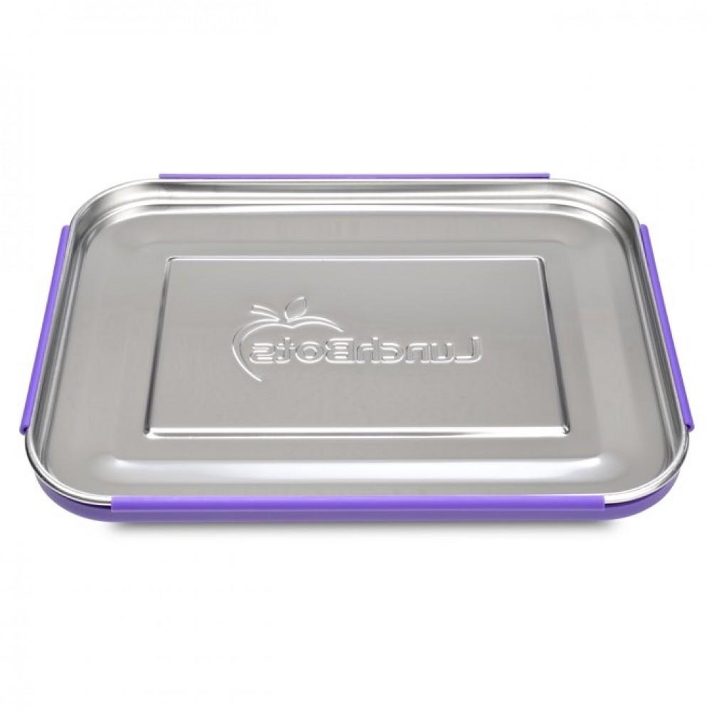 LunchBots Bento TRIO purple dots ekstra stor madkasse-01