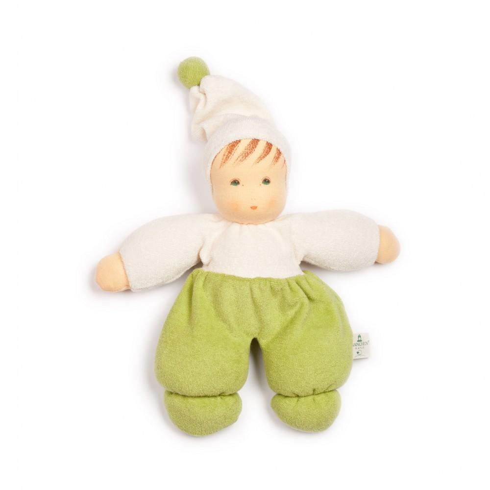 Nanchen dukke 30 cm. grøn-31