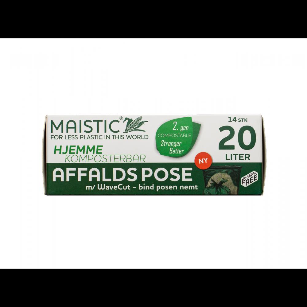 Maistic Bio Group plastfri skraldepose WaveCut 20 liter 14 stk.-01