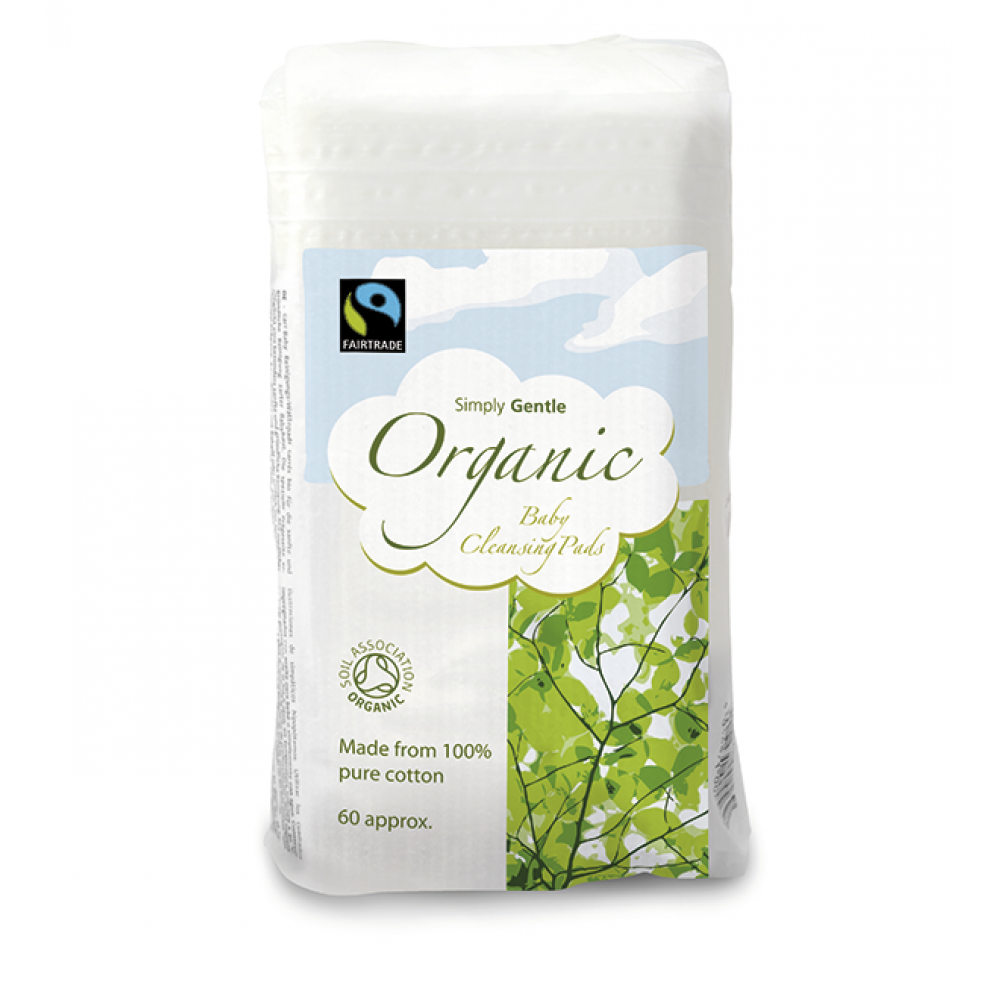 Simply Gentle økologisk baby maxi vat 60 stk.-32