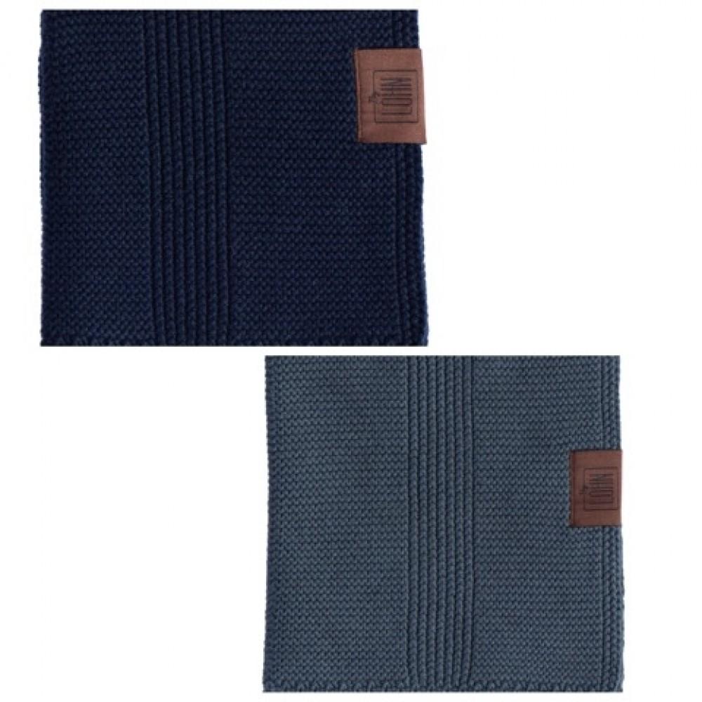 By Lohn all round cloth 25x25 cm. 2 stk. dark grey and navy-01