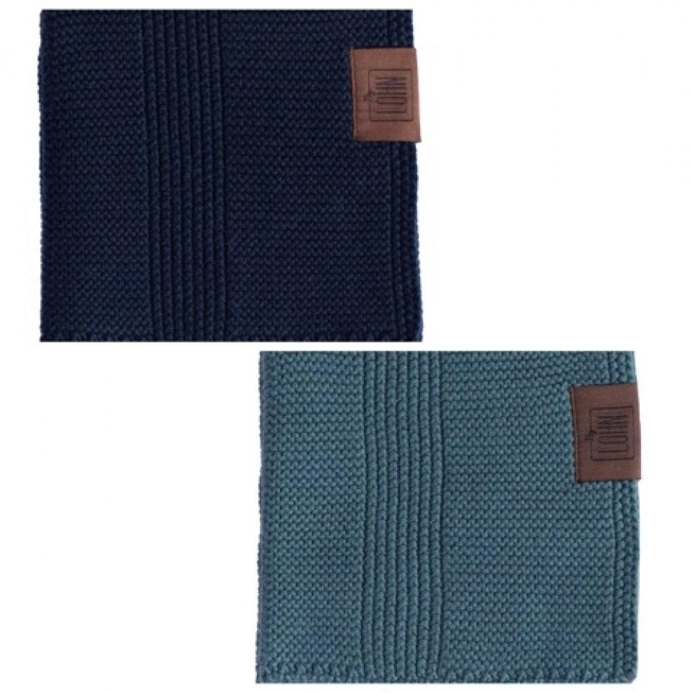 By Lohn all round cloth 25x25 cm. 2 stk. petrol and navy-01