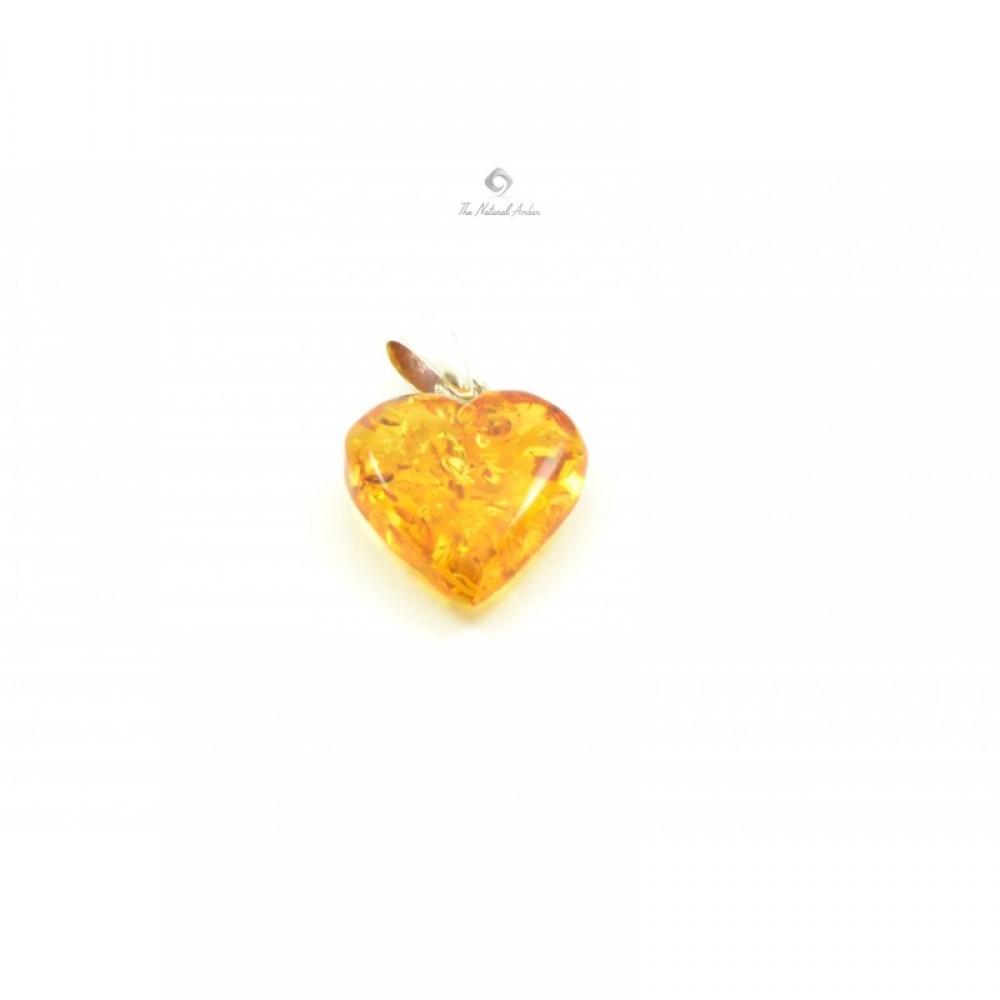 Rav vedhæng hjerte honey-31