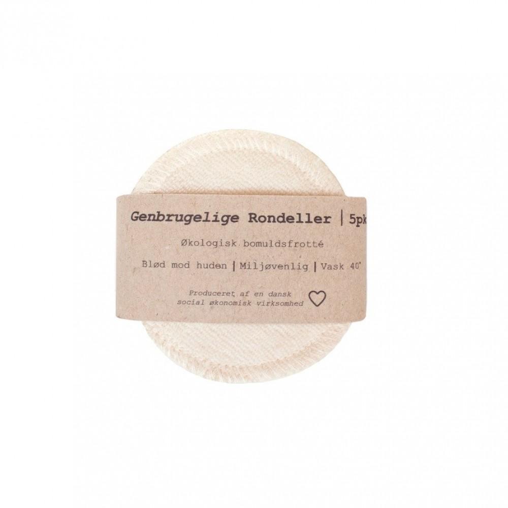 Pargaard genbrugelige øko-bomuldsrondeller 5 stk. natur-31