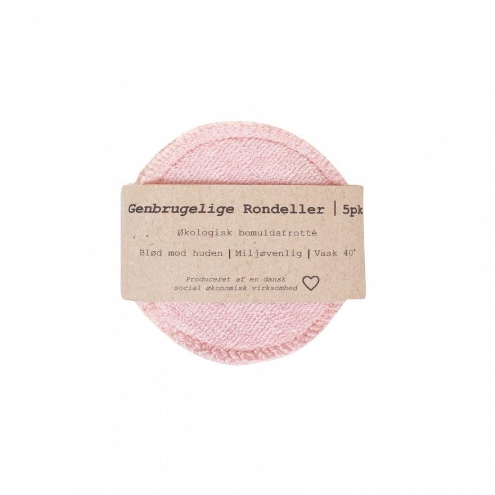 Pargaard genbrugelige øko-bomuldsrondeller 5 stk. rosa-31