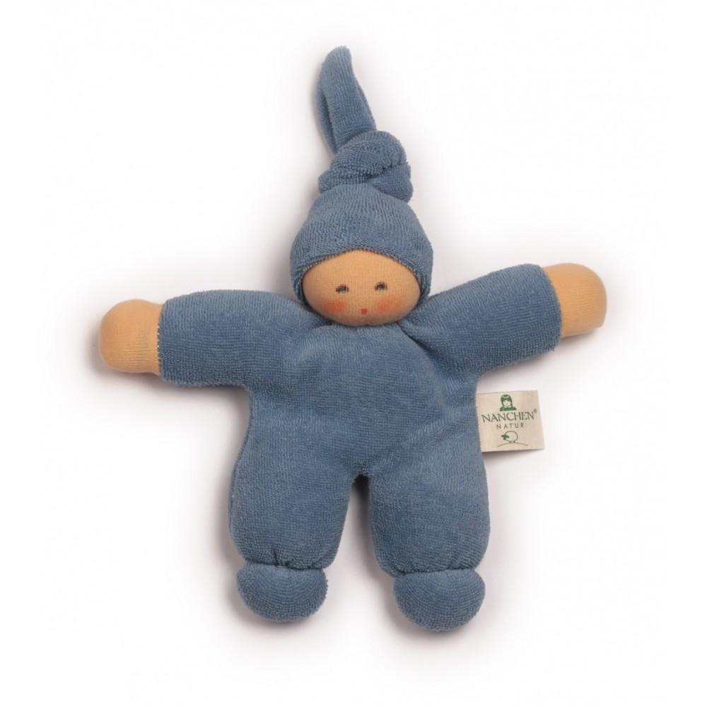 Nanchen dukke 17 cm. blå-31