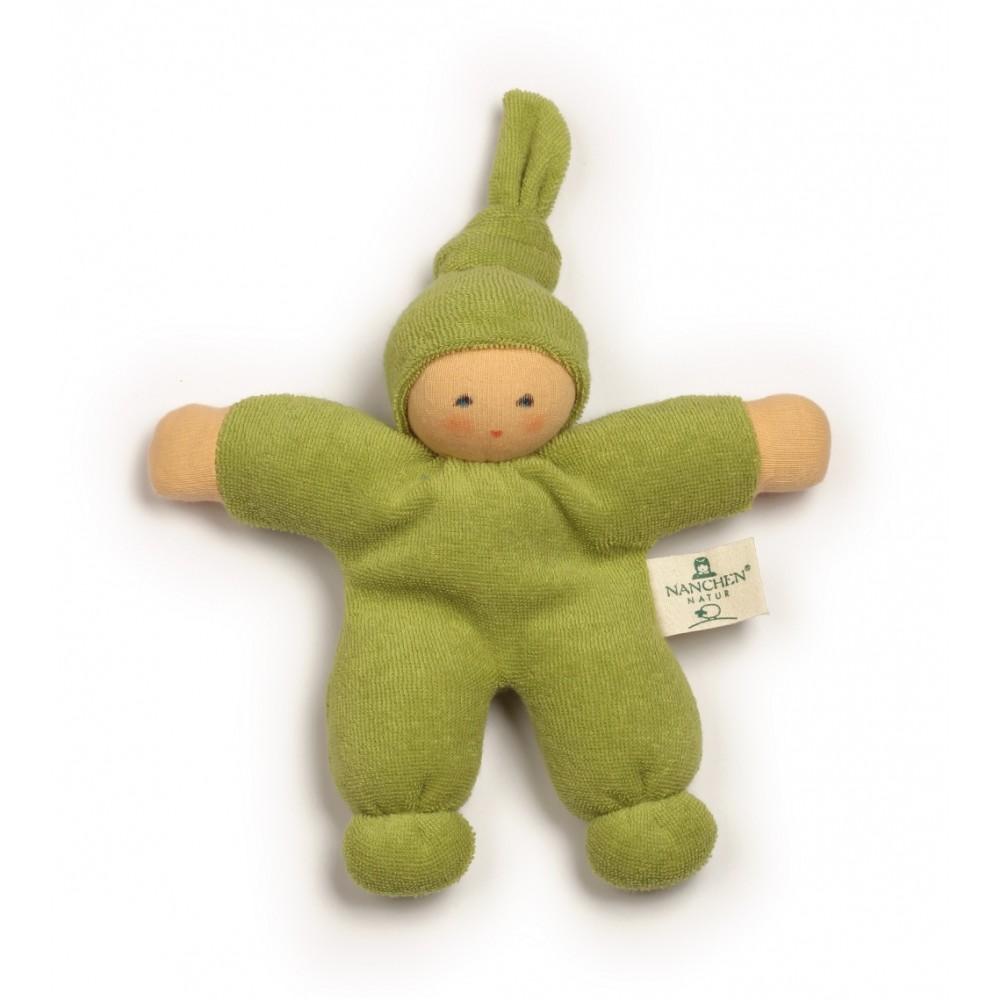 Nanchen dukke 17 cm. grøn-31